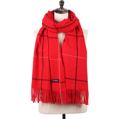 Newest Plaid Soft Cashmere Women Scarf Top Quality Fashion Designer Shawl