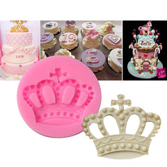 1 - ZHGZ7195 Crown Shaped Fondant Cake Handmade Silicone Mould