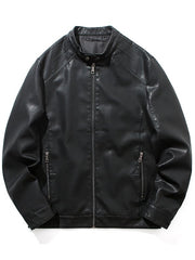 Motorcycle Leather Casual Jacket