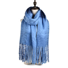 Women Money Thickening Keep Warm Scarf Autumn and Winter Long Tassel Shawl Scarf