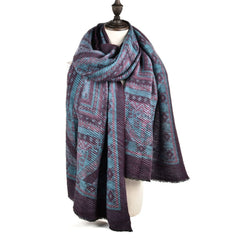 Ma'am Autumn and Winter Fold Oversize Scarf Geometric Figure Fashion Shawl Scarf
