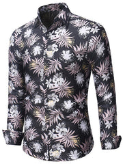 Slim Fit Floral Print Long Sleeve Shirt