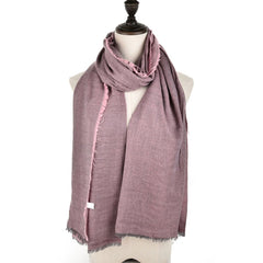 Ladies Winter Style Warm Scarf Super Long Single Color Fashion Scarf