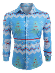 Christmas Wheat Pattern Long Sleeves Shirt