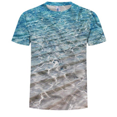 Fashion Personality 3D Digital Printing Large Size Short-Sleeved T-Shirt