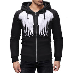 Men's Fashion Wings Print Design Large Size Hoodies