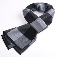 Quality autumn and winter classic plaid men's scarf