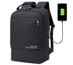 0608 Anti-theft Smart USB Charging Waterproof Oxford Cloth Business Computer Casual Men Bag Backpack