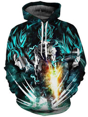 Printed Hooded Sweater Casual Hoodie