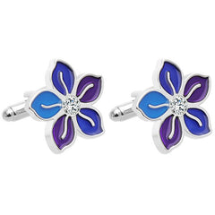 Personality Unisex Flower French Business Shirt Cufflinks 2pcs