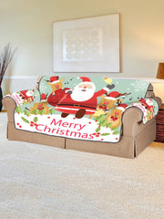 Deer Father Christmas Pattern Couch Cover