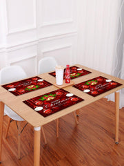 1PC Merry Christmas Bell Ball Printed Placemat