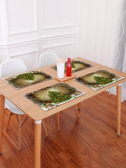 1PC Merry Christmas Tree Wooden Printed Placemat