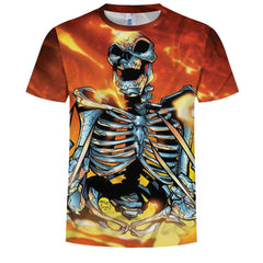 3D Fashion Men's Digital Print Ribs T-Shirt