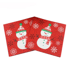 20PCS Christmas Package Napkin Pocket Handkerchief For Home Table Decoration
