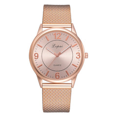 The New Lady Temperament Big Dial Watch Watch Fashion Alloy