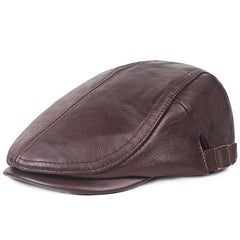 Men's Beret Cap Retro Leather