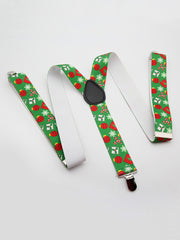 Christmas Snowflake Cane Adjustable Suspenders