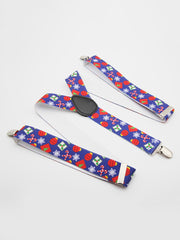 Christmas Themed Printing Adjustable  Suspenders