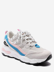 Color Block Mesh Trim Platform Sneakers