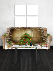 Merry Christmas Tree Pattern Couch Cover