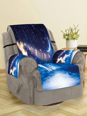 Christmas Starry Sky Deer Pattern Couch Cover