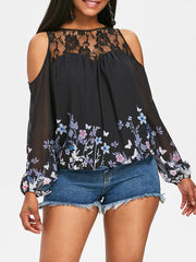 Blossom Floral Open Shoulder Blouse