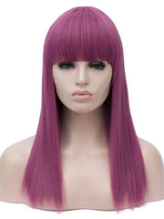 Full Bang Long Straight Anime Party Synthetic Wig