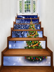 Christmas Tree Forest Pattern Decorative Stair Stickers