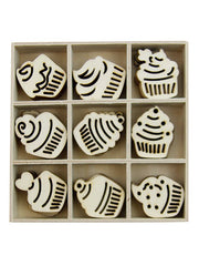 Cake Wooden Home Decorations Set