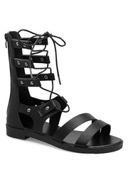 Lace Up Cross Gladiator Shoes