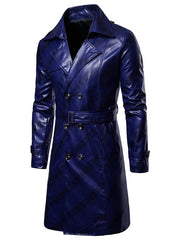Double Breasted Lapel Collar Longline Coat