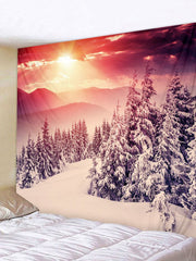 Sunshine Snow Printed Tapestry Art Decoration