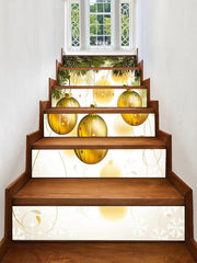 Christmas Hanging Ball Pattern Decorative Stair Stickers