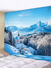 Snow Scene Printed Tapestry Art Decoration