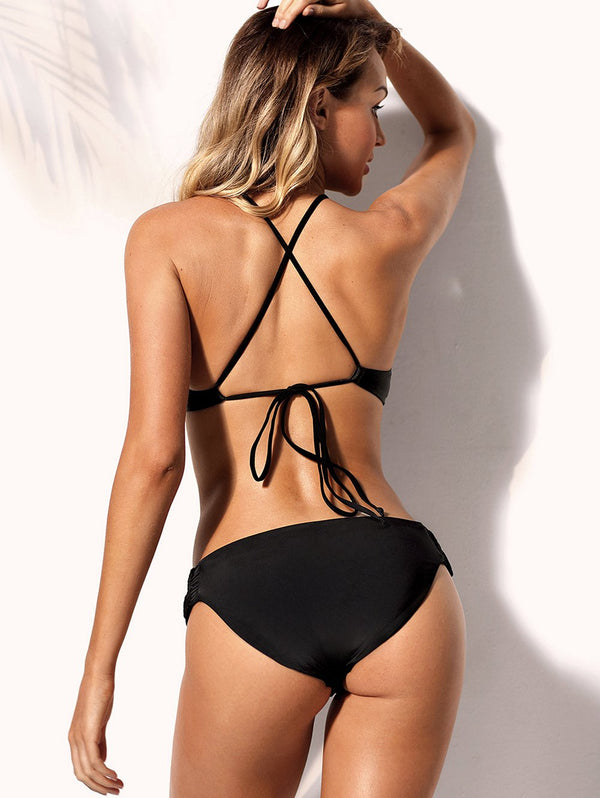 Hollow Out Halter Bikini Sets