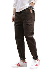 Jogging Drawstring Tapered Pants