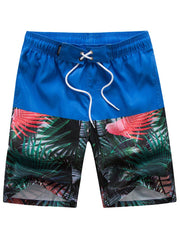 Tropical Forest Printed Casual Board Shorts