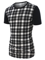 Checked Print Short Sleeve Tee