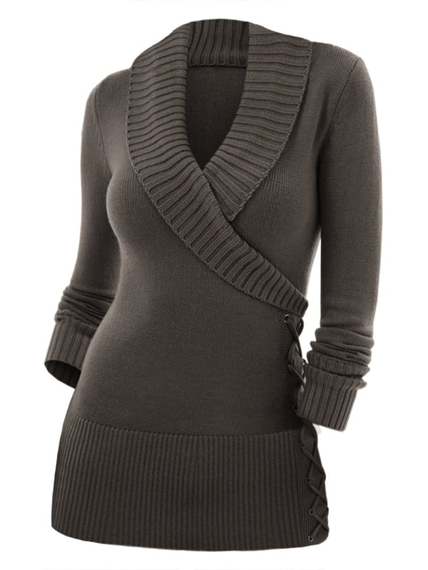 Fashion Women's V-neck Sweater