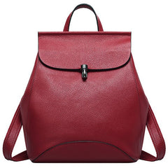 DOUCHUN Leather Backpack Fashion Lady Single Shoulder Bag