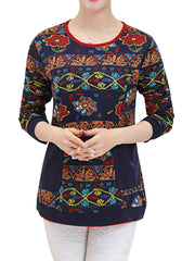 Holiday Elegant Charming Women Cotton O-neck Long Sleeve Sweatshirt Plus Size Hoodies & Sweatshirts
