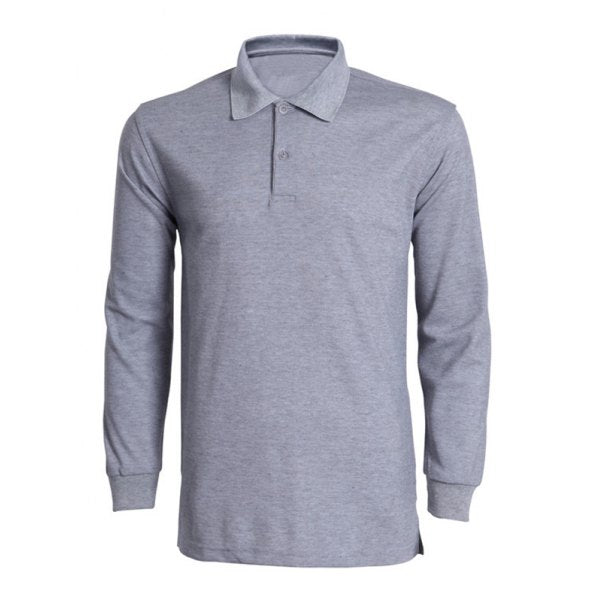 Turn-Down Collar Solid Color Long Sleeve T-Shirt For Men