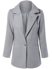 Lapel Collar Pockets Coat