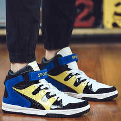 Stylish High Top and Colour Block Design Athletic Shoes For Men