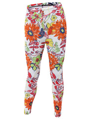 Sporty Floral Skinny Yoga Leggings