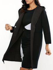 Reversible Style Hooded Buttoned Coat