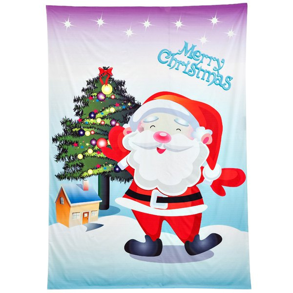 Funny Christmas Santa Claus Print Rectangle Beach Throw