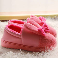 Bowknot House Fur Slippers