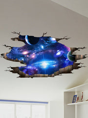 Ceiling Floor Decor 3D Galaxy Planet Wall Stickers